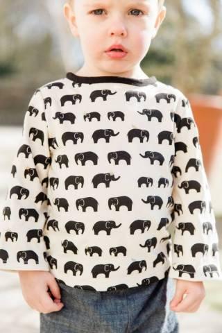 T-shirt à manches longues éléphants